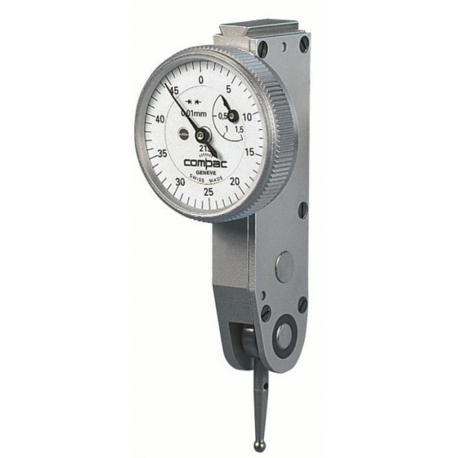 Compac 215 - Analogue lever-type dial test indicator , Range - 0.6mm