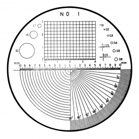 183-102 - Polar Net, Angle, Radius Reticle