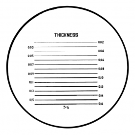 183-104 - Fine Thickness Reticle