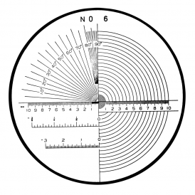 183-107 - Angle, Radius, Length Reticle (No. 6)