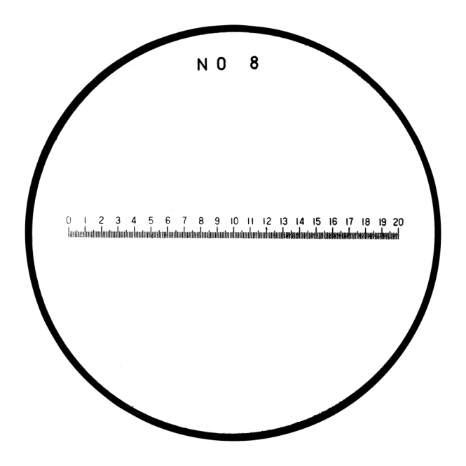 Mitutoyo 183-109 - Length in mm Reticle (No. 8)