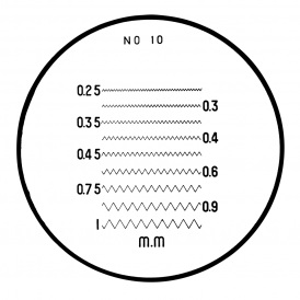 183-111 - Thread Pitches (Metric) Reticle (No. 10)