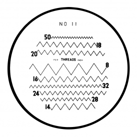 183-112 - Thread Pitches (Inch) Reticle (No. 11)