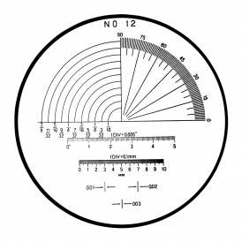 183-113 - Angle, Radius, Length Reticle (No. 12)