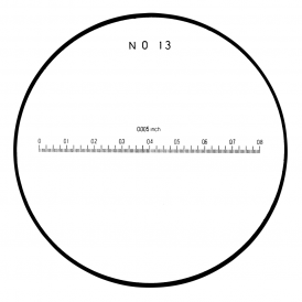183-114 - Linear Inch Scale Reticle (No. 13)