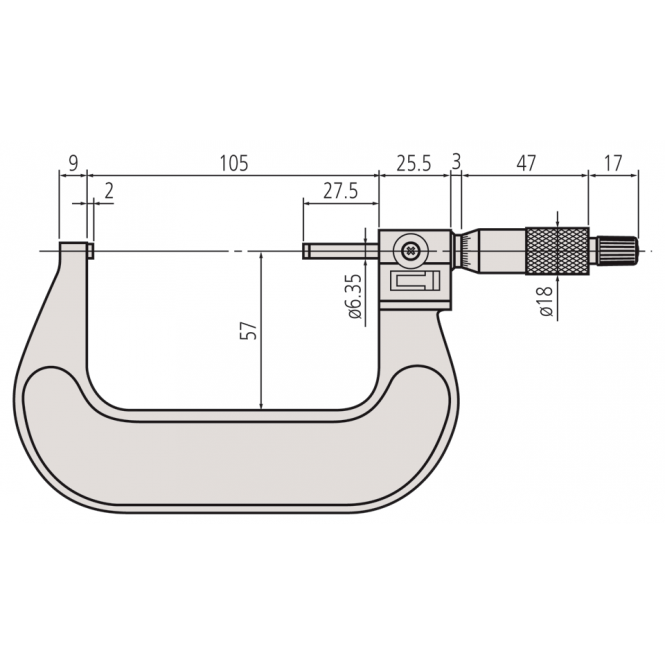 Mitutoyo 193-114 Micrometer with Mechanical Counter 75-100mm