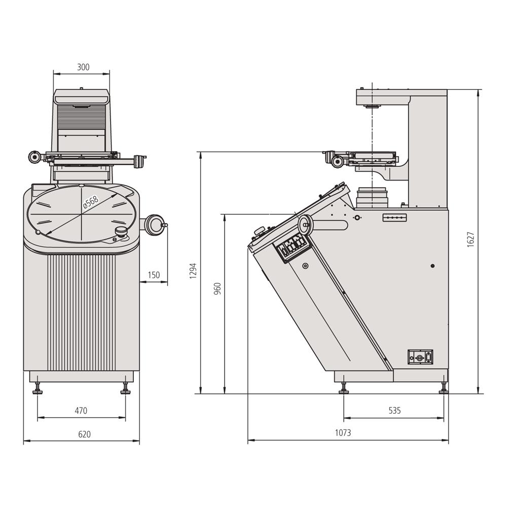 Mitutoyo 304-919E - PV-5110 Profile Projector - All