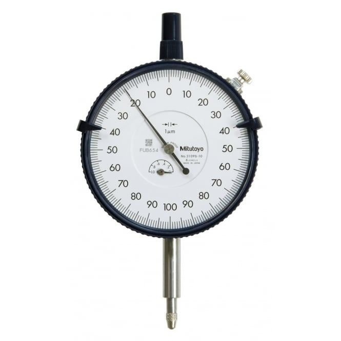 Mitutoyo 3109S-10 Large Diameter High Resolution Dial Indicator 1mm (0.2mm)