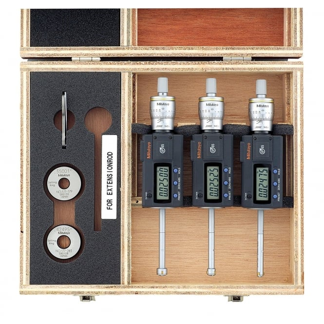 Mitutoyo 468-986 Digimatic Bore Micrometer Set 6-12mm / .275-.5