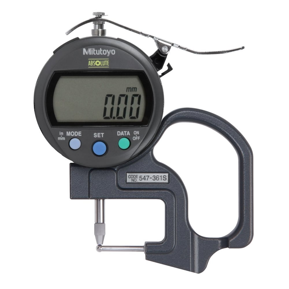 mitutoyo thickness gauge. 547-361s absolute digimatic thickness gauge 0-10mm / 0-.4\u0026quot; mitutoyo u
