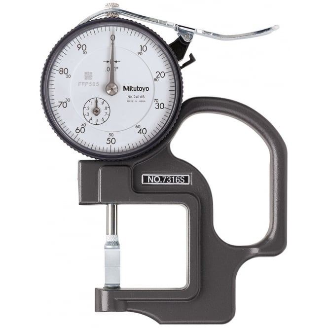 Mitutoyo 7316S Dial Thickness Gauge 0-.5