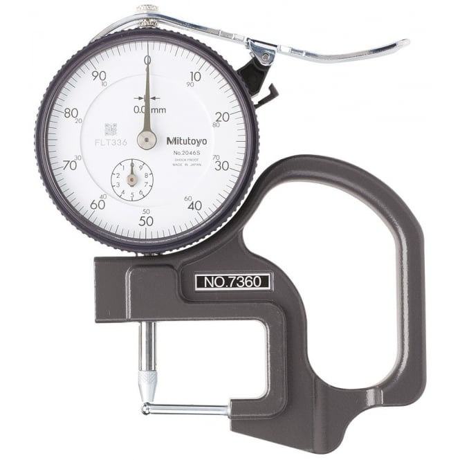 Mitutoyo 7360 Dial Thickness Gauge 0-10mm