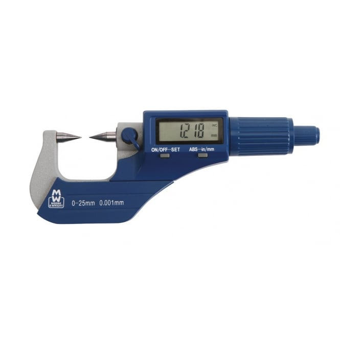 Moore & Wright MW270-01DDL -30° Digital Point Micrometer 270 Series 0-25mm / 0-1