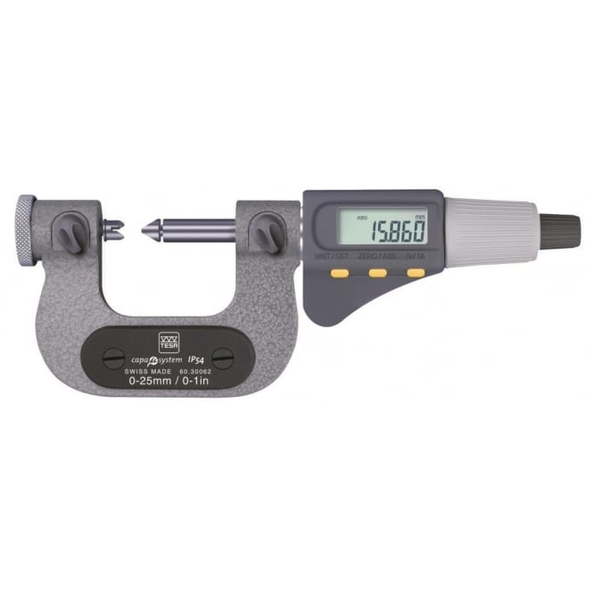 Tesa 06030063 MICROMASTER AC Micrometers for Thread Measurement 25-50mm / 1-2